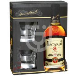 Bacardi 8 Éves Rum (DD+2 Pohár) [0,7L 40%]